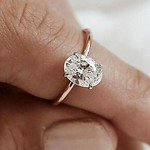 Engagement Rings : 18 Oval Engagement Rings That Every Girl Drems ❤ oval engagement rings rose go...