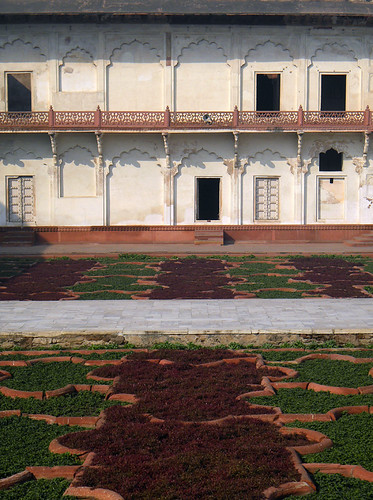 Garden at the Agra Fort, a 16th-century Mughal fortress, is another UNESCO World Heritage site in Agra, and in its own way just as beautiful as the Taj Mahal