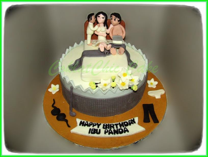 Cake Family Bedroom IBU PANDA 18 cm