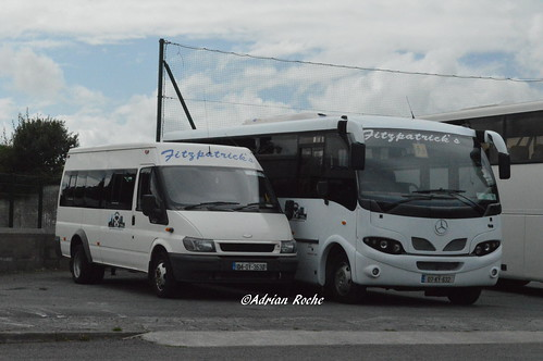 Fitzpatrick's Of Listowel Mercedes Eurocoach LX33 (07-KY-632) & Ford Transit (04-OY-3532).