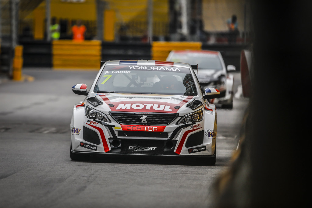 07 COMTE Aurelien, (fra), Peugeot 308 TCR team DG Sport Competition, action during the 2018 FIA WTCR World Touring Car cup of Macau, Circuito da Guia, from november  15 to 18 - Photo Francois Flamand / DPPI