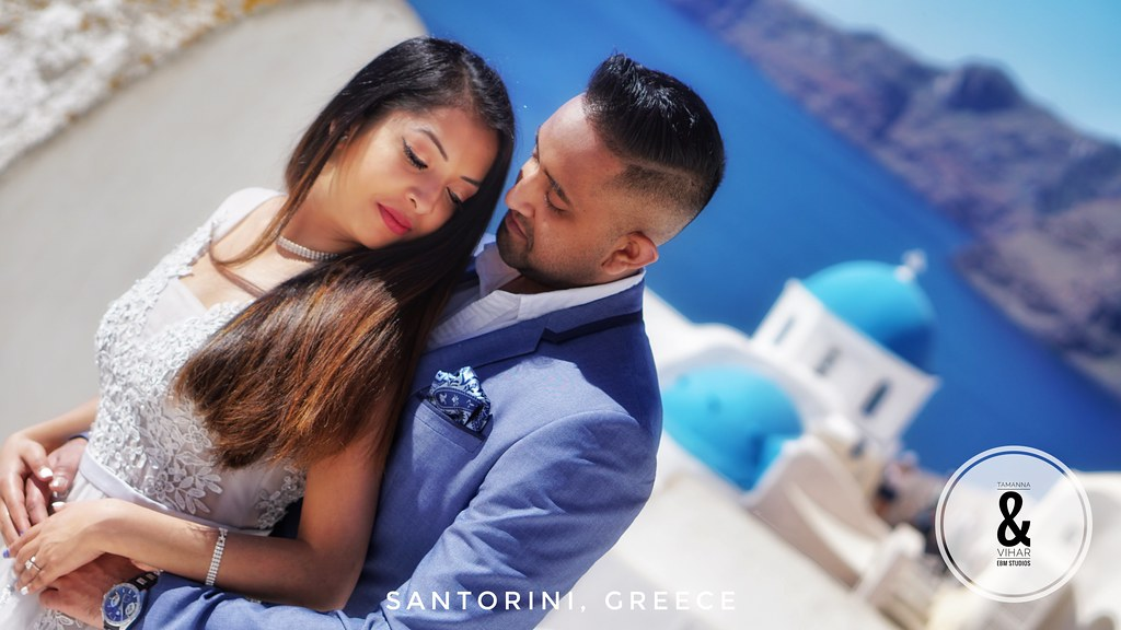 Tamanna & Vihar by EBM Photography Studios in Santorini Greece