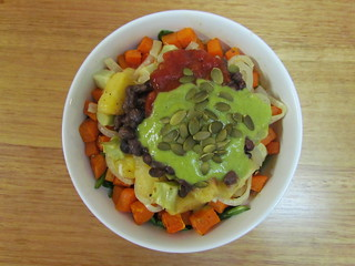Pineapple-Black Bean Bowls with Roasted Veggies
