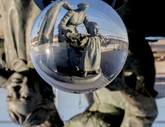 Immigration statue lensball