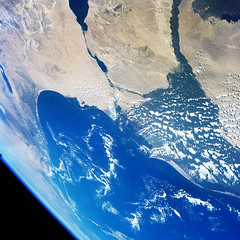 Gemini 7 view of the Middle East area. Original from NASA. Digitally enhanced by rawpixel.