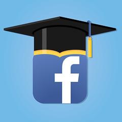Facebook Social Media Icon With Graduation Cap