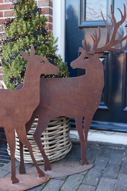 Herten roest kerst voordeur