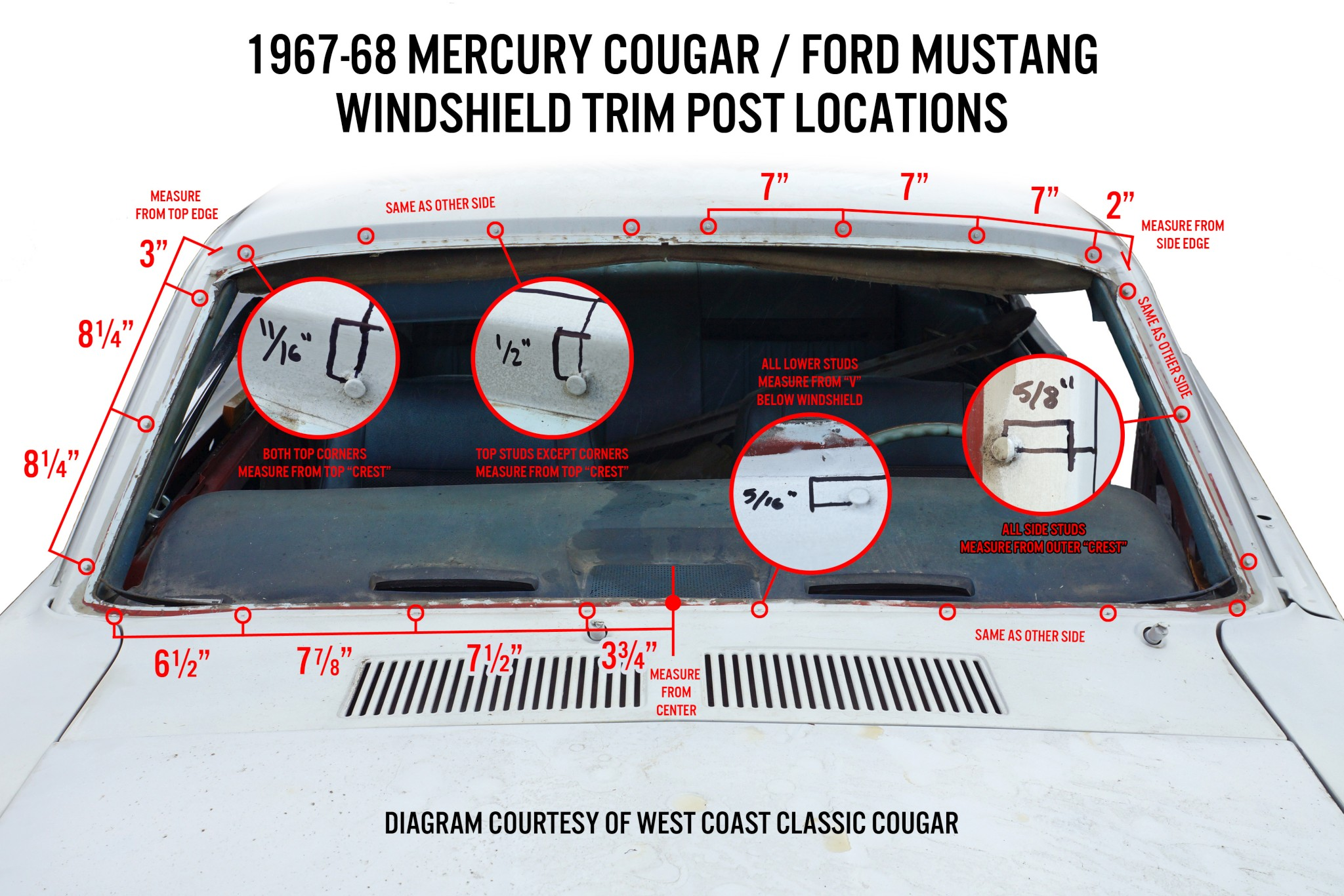71-73 MUSTANG//COUGAR FIREWALL TO HOOD SEAL