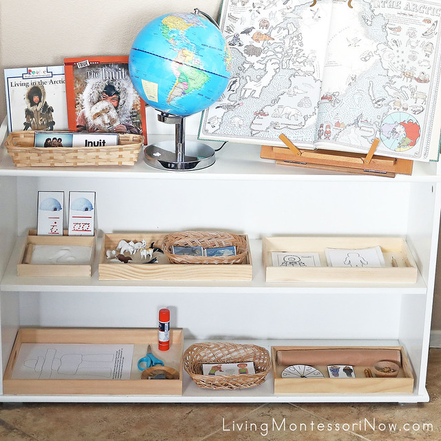 Montessori Shelves with Inuit Themed Activities