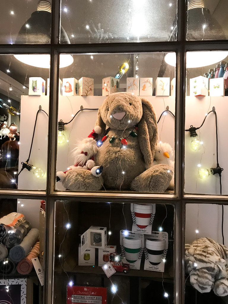Wrapped Christmas Bunny Christmas Windows, Canterbury