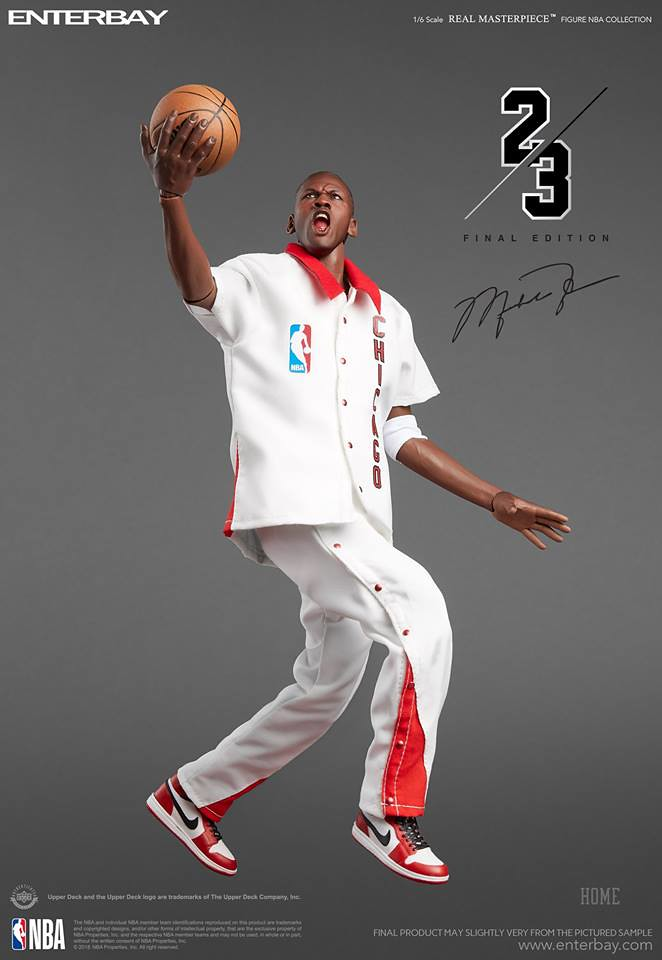 1~14代喬丹鞋收好收滿! ENTERBAY Real Masterpiece - NBA Collection 系列【麥可·喬丹 終極版】Michael Jordan (Final Limited Edition) 1/6 比例人偶作品