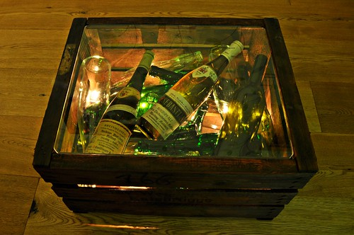 Beistelltisch - Weinkiste