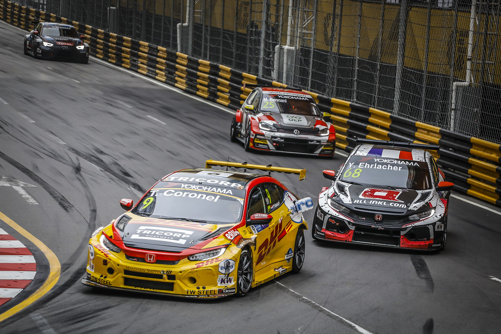 09 CORONEL Tom, (nld), Honda Civic TCR team Boutsen Ginion racing, action during the 2018 FIA WTCR World Touring Car cup of Macau, Circuito da Guia, from november  15 to 18 - Photo Francois Flamand / DPPI