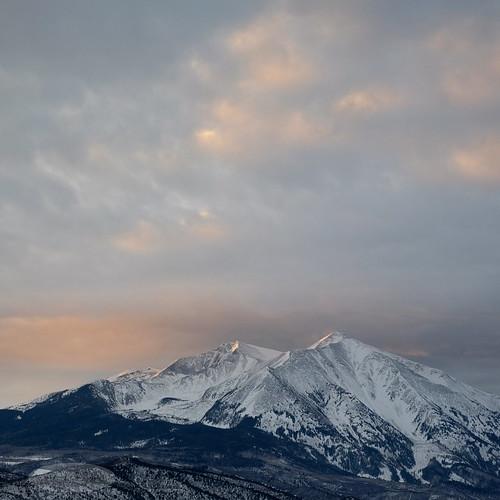 mountain mountsopris sopris rockies carbondale colorado landscape nature outdoor sky sunrise clouds