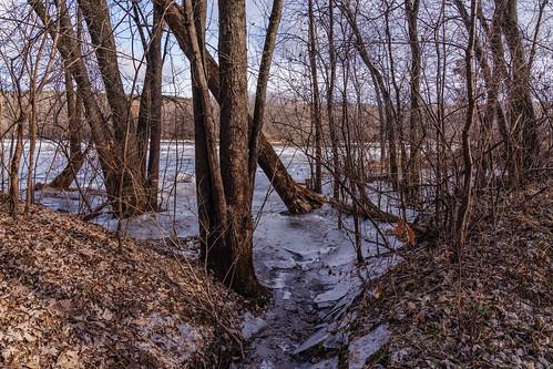 Ice on the Saint Croix River, Minnesota