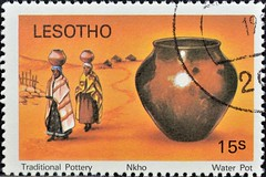 Lesotho (02) 1980 Traditional Pottery