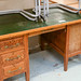 Solid wood desk leatherette top E100
