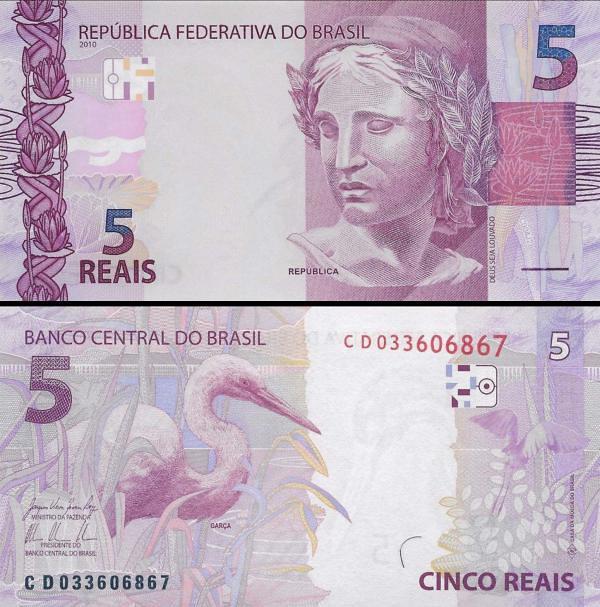 5 reais Brazília 2010, P253