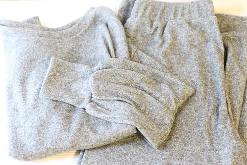 GU(ジーユー)のルームウェア「フラッフィータッチラウンジセット(長袖)」口コミ