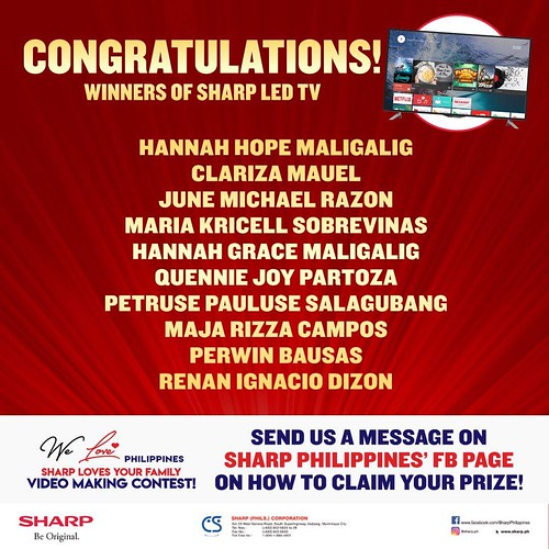 Sharp 45 inch LED TV Winners