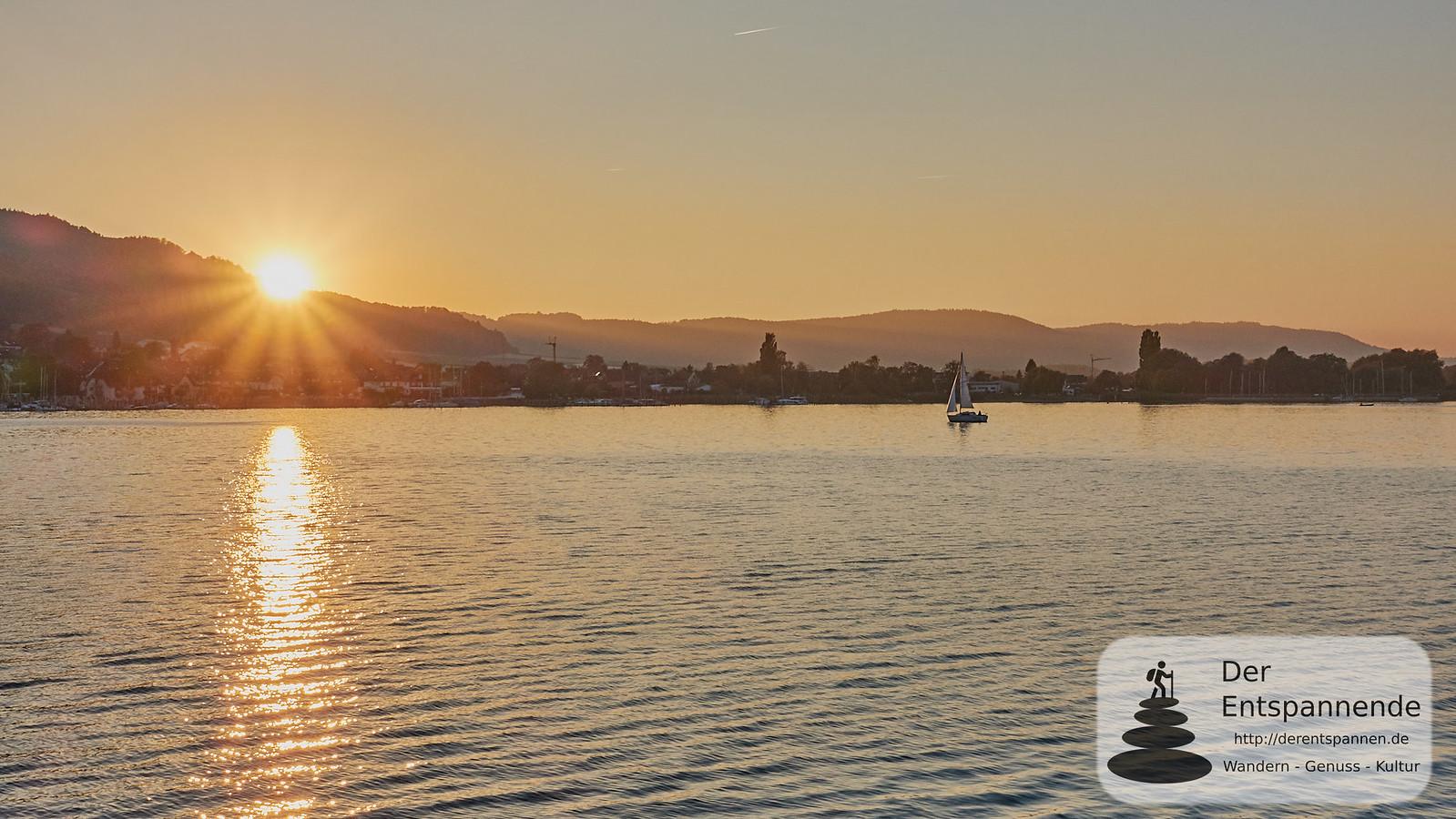 """Sonnenuntergang bei der Begrüßungsfahrt mit der """"Großherzog Ludwig"""""""