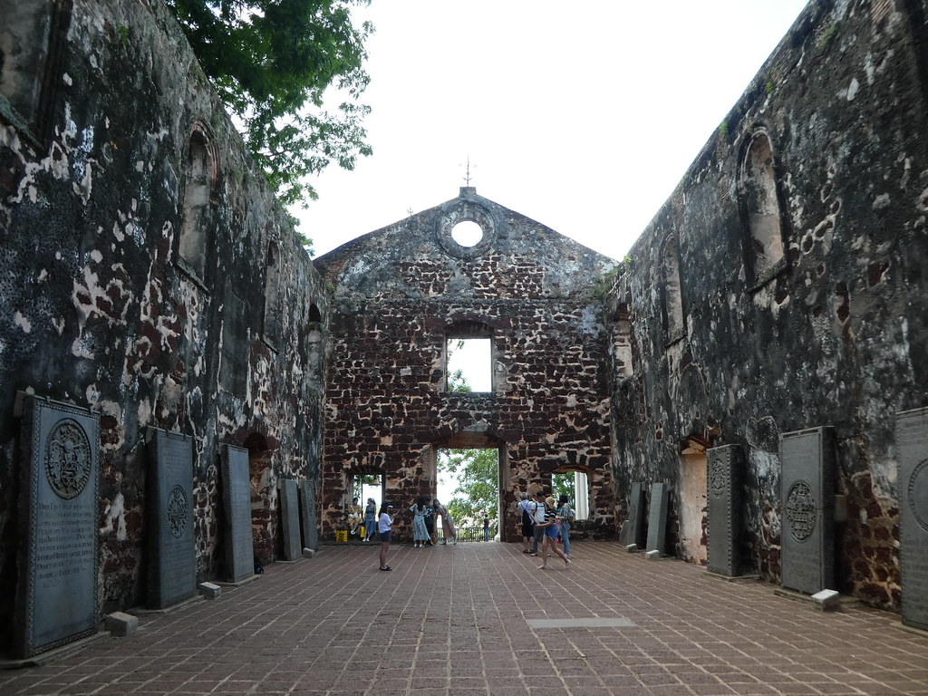 The ruins of the church of St. Paul, Malacca