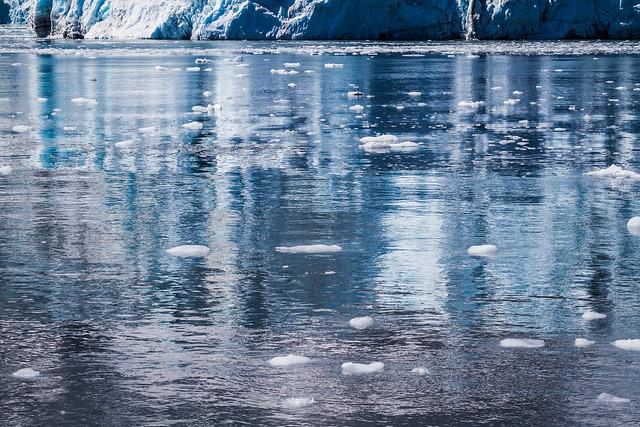 Glacier Reflection - Harriman Fjord - Alaska