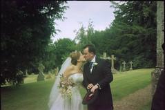 Found Photos - Unknown Bride & Groom - Wedding Kiss!