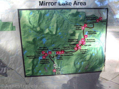 Map of the Mirror Lake Highway through the High Uintas of Utah