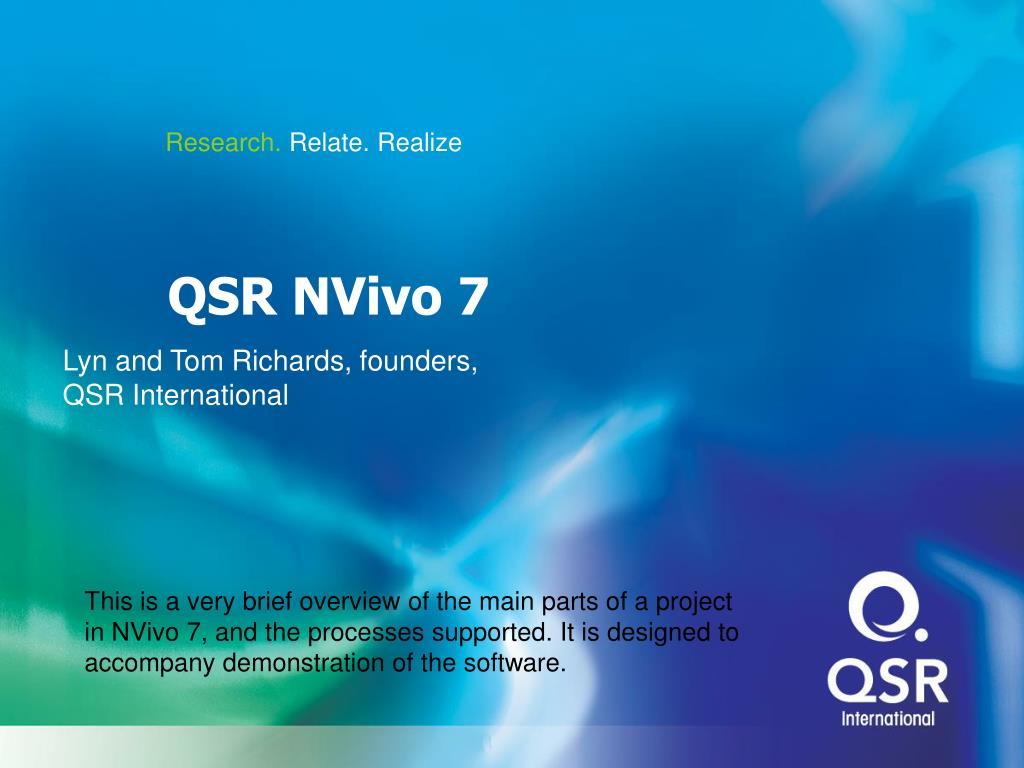 QSR NVivo 7 X86 x64 full license