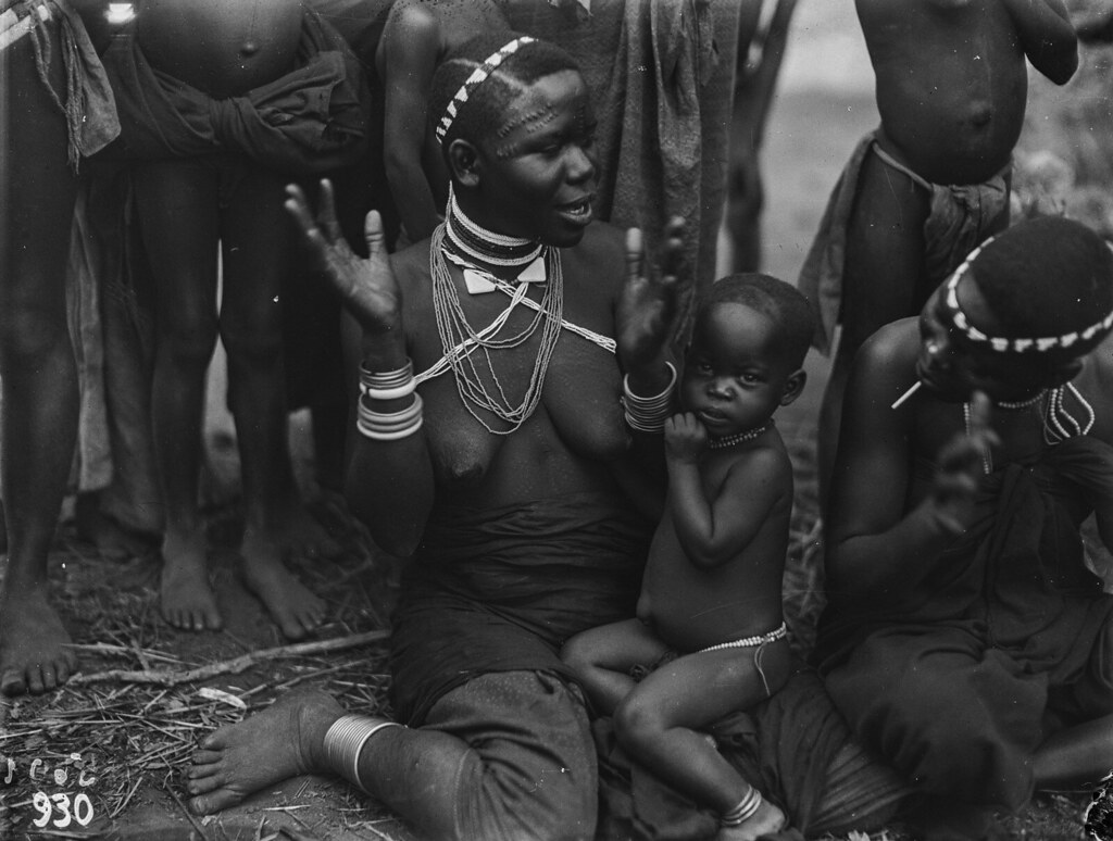Чама. Женщина вазенга с ребенком