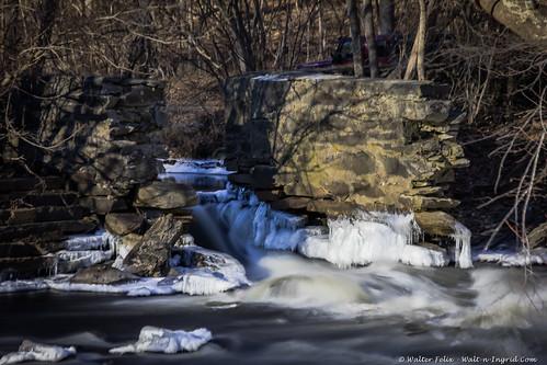 quinebaug connecticut unitedstatesofamerica us landscape winter waterfall ice