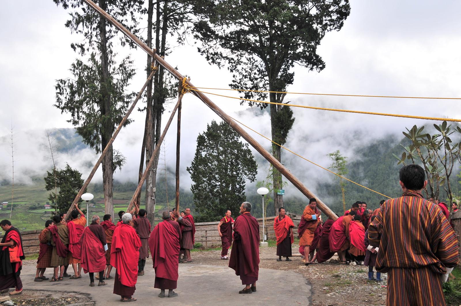 Raising the Flag (Bhutan), Nikon D300, AF-S DX VR Zoom-Nikkor 18-200mm f/3.5-5.6G IF-ED [II]