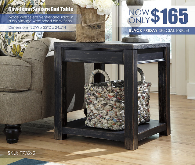 Gavelston Square End Table_T732-2