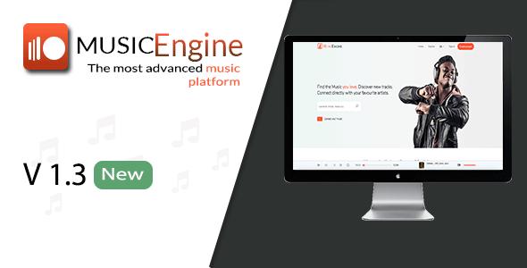 MusicEngine v1.3.1 – Social Music Sharing Platform