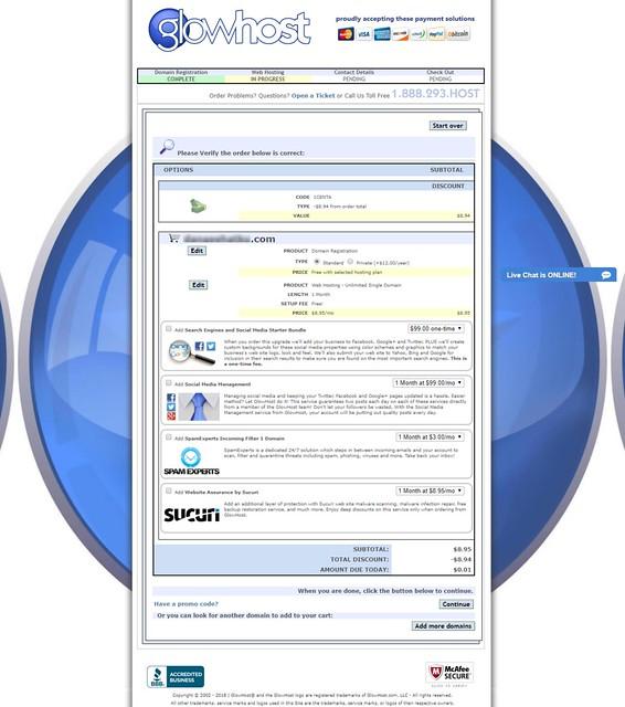 contoh order pesanan hosting