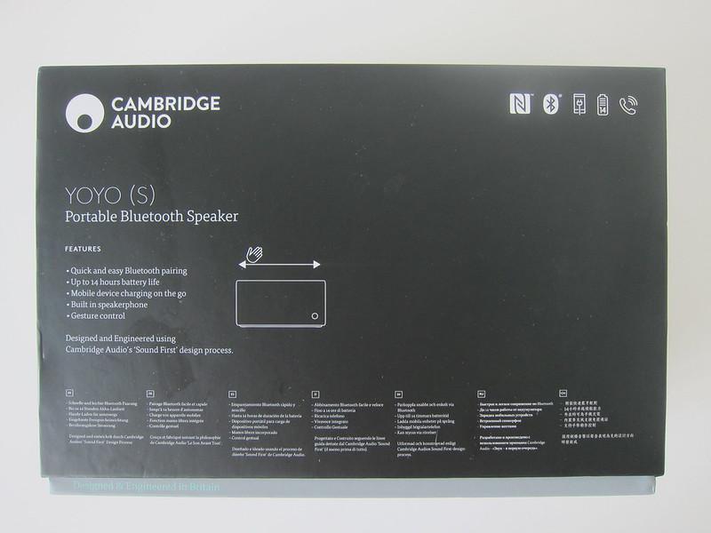 Cambridge Audio Yoyo (S) - Box Back