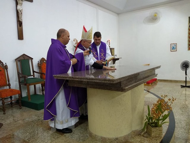 consagração do altar da Comunidade Imaculada Conceição