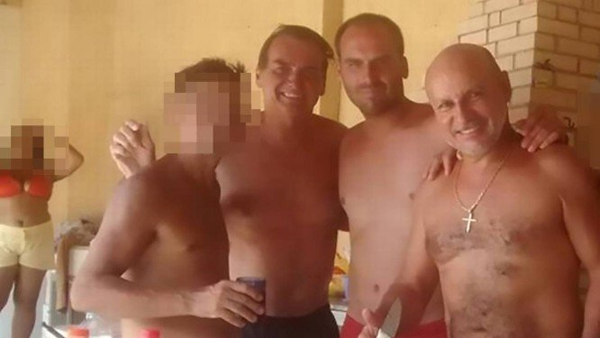 Fabricio Queiroz e Bolsonaros