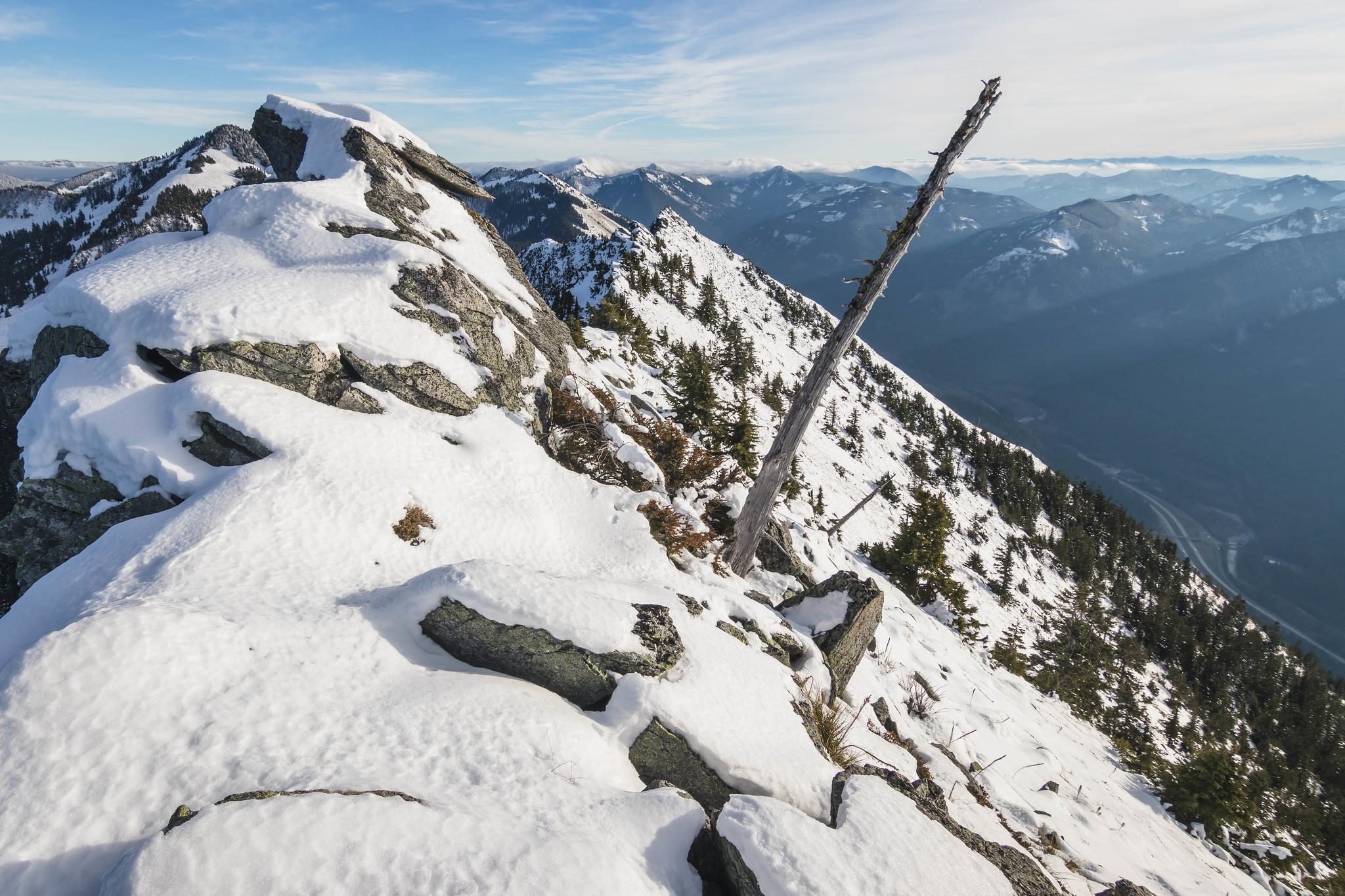 Looking back at Putrid Petes Peak