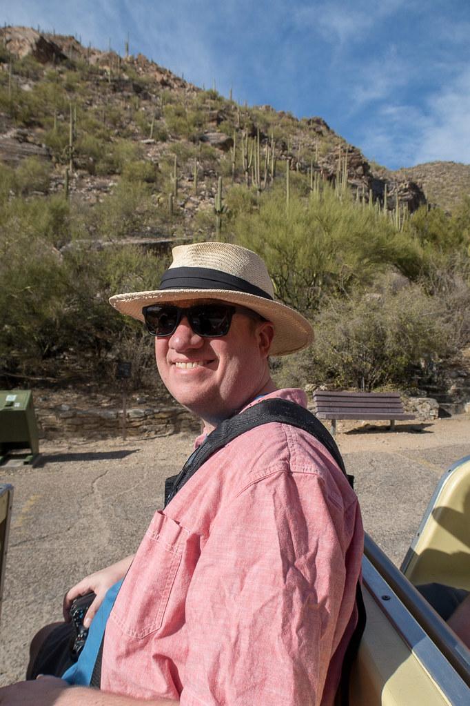 Ken in Sabino Canyon Tram