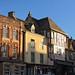 Burford High Street in November sunshine.