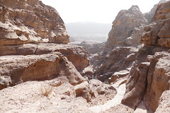 Climbing Down from the Monastery at Petra (6)