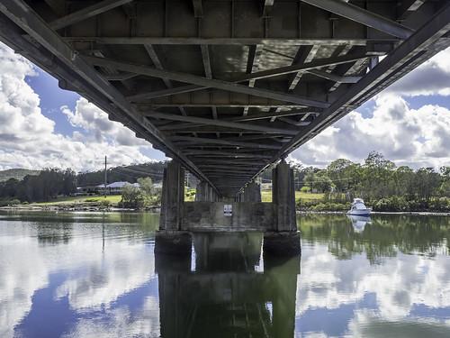 Karuah NSW - Old Pacific Highway (Tarean Road) bridge over Karuah River - see below