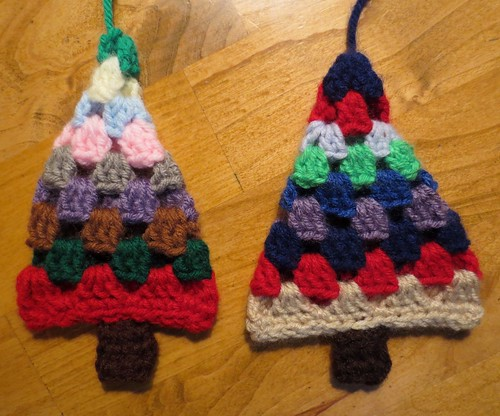 Granny Square Christmas Trees