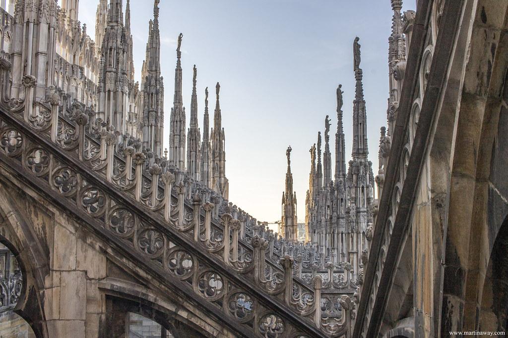 Terrazze Del Duomo Di Milano Milano Lombardia Italia