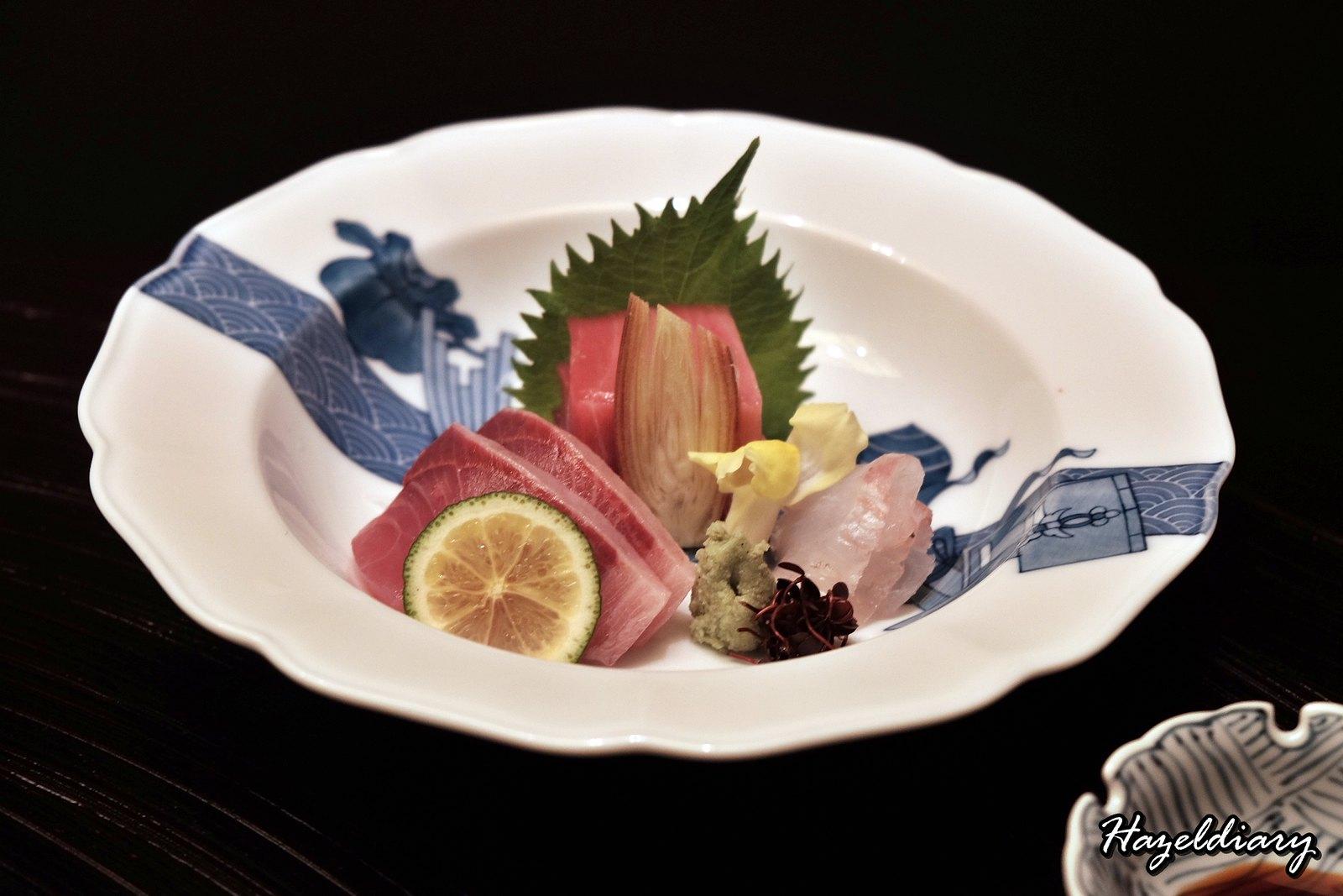 kaiseki soujuan keio plaza hotel tokyo-sashimi