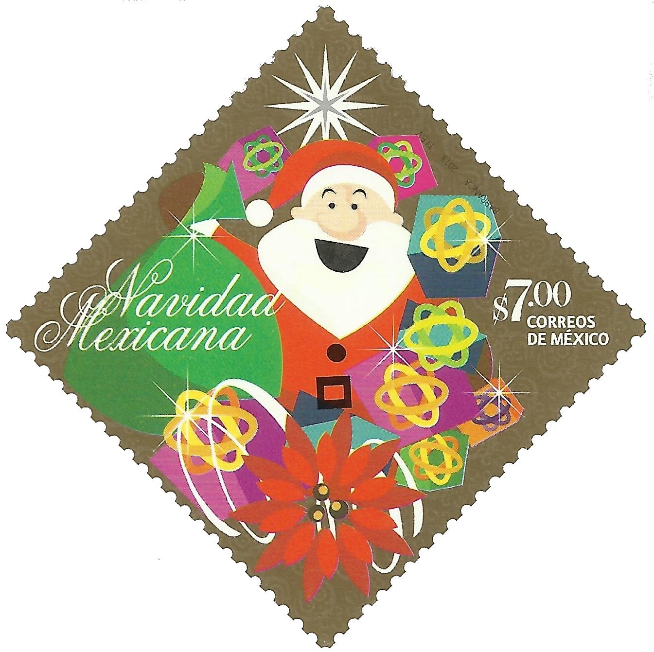 México - Santa Claus from pre-paid postal card (2013)
