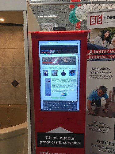 Hacked the computer at BJ's Whosale