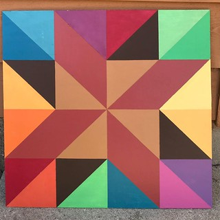 Barn quilt house staining